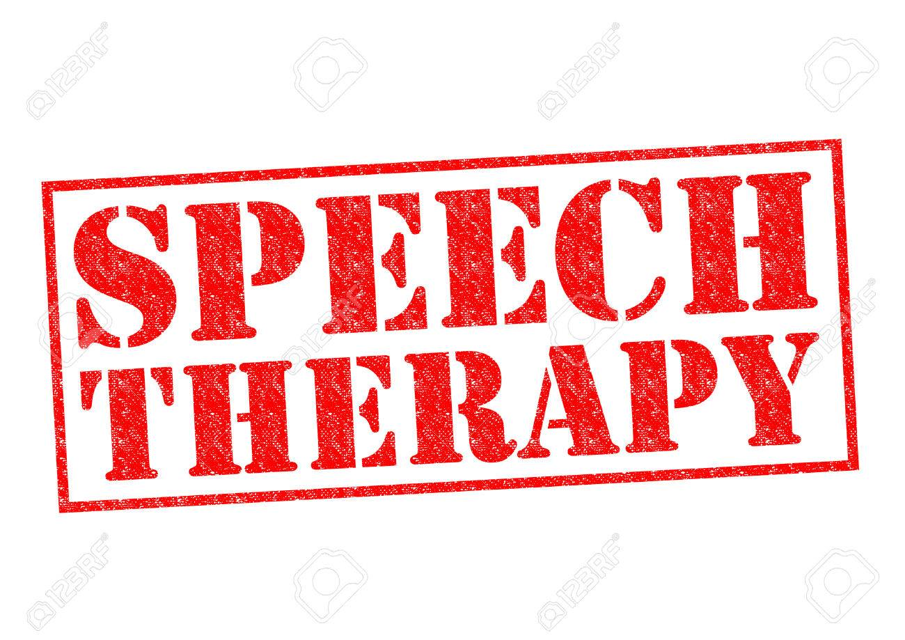 SPEECH THERAPY red Rubber Stamp over a white background. - 31227938