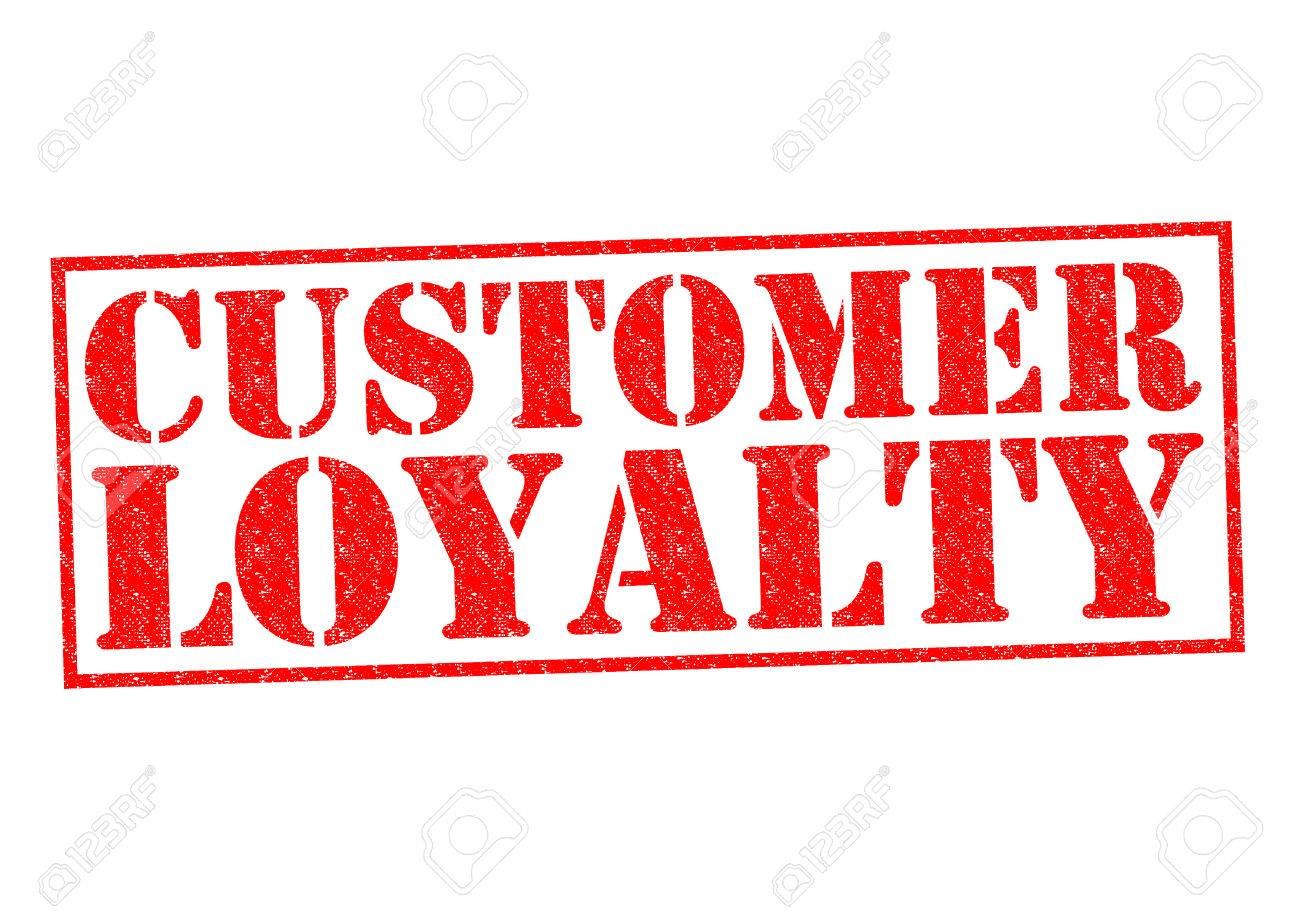 CUSTOMER LOYALTY Red Rubber Stamp Over A White Background Stock Photo