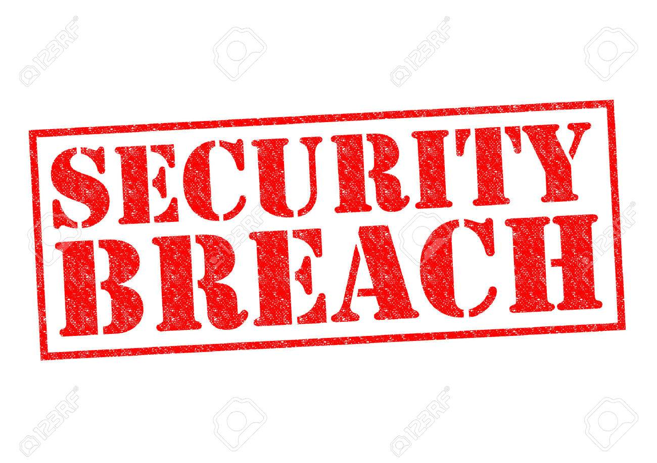 SECURITY BREACH red Rubber Stamp over a white background. - 31635959