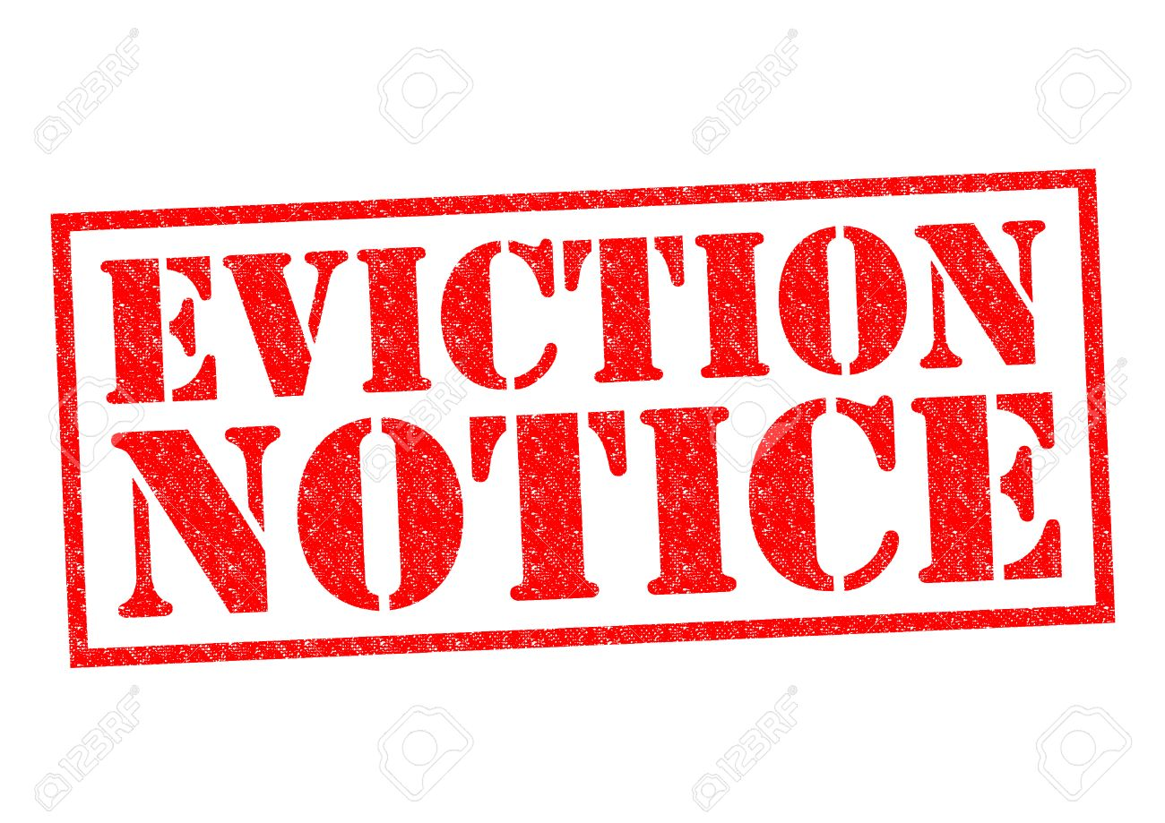 EVICTION NOTICE red Rubber Stamp over a white background. - 32450634
