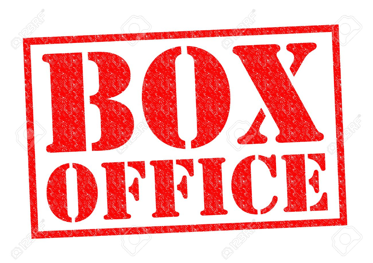BOX OFFICE Red Rubber Stamp Over A White Background Stock Photo