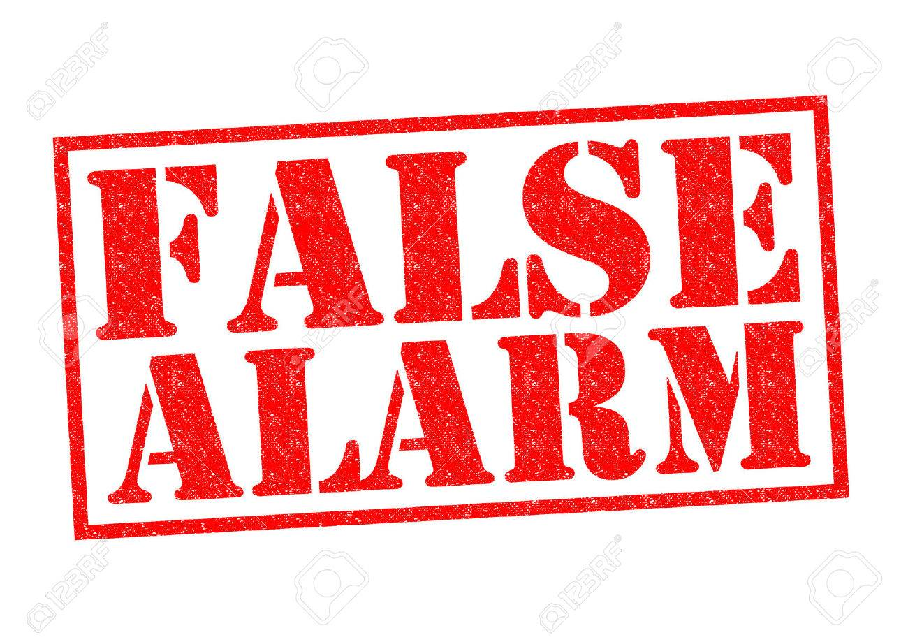 FALSE ALARM red Rubber Stamp over a white background. - 33940150