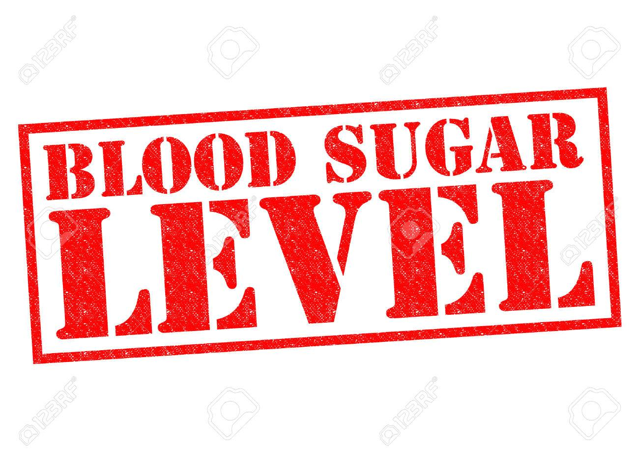 BLOOD SUGAR LEVEL red Rubber Stamp over a white background. - 34101941