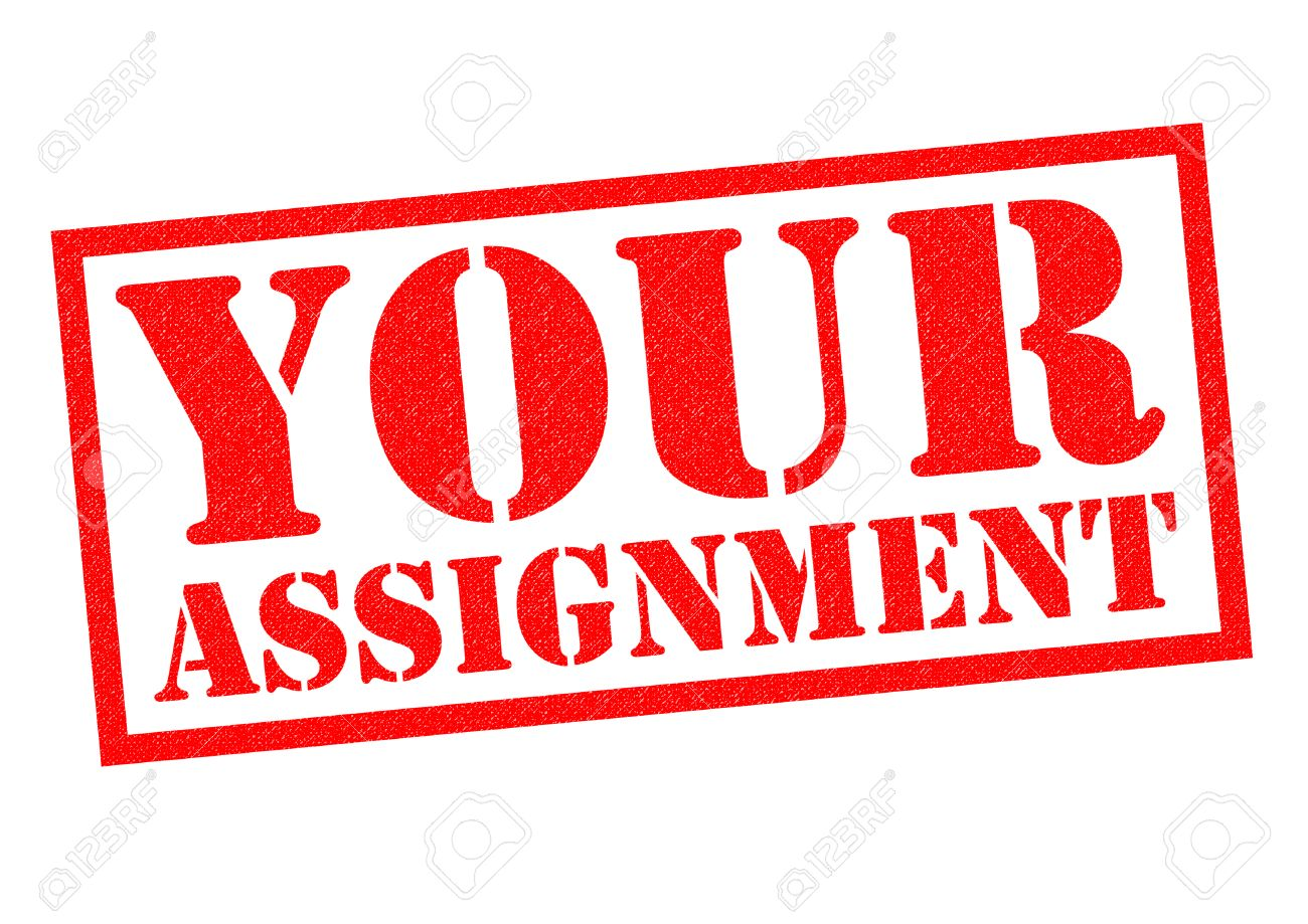 your assignment red rubber stamp over a white background stock stock photo your assignment red rubber stamp over a white background