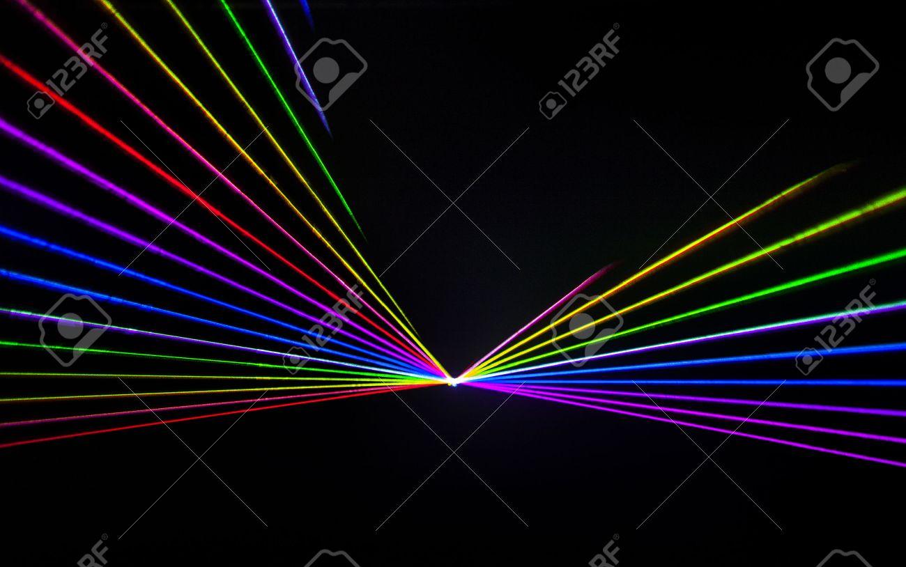 Colorful Laser effect over a plain black background. - 50501493
