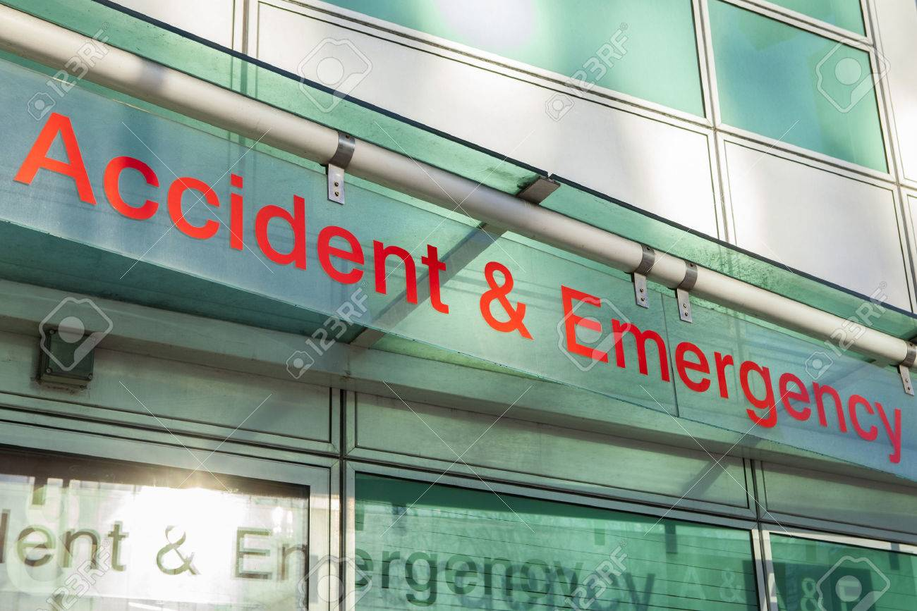 The sign for an Accident and Emergency Department. - 52319585