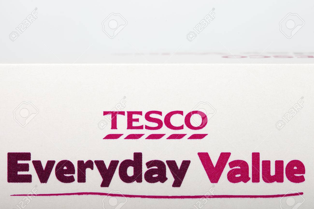 LONDON, UK - JUNE 16TH 2016: Close-up of the Tesco Everyday Value