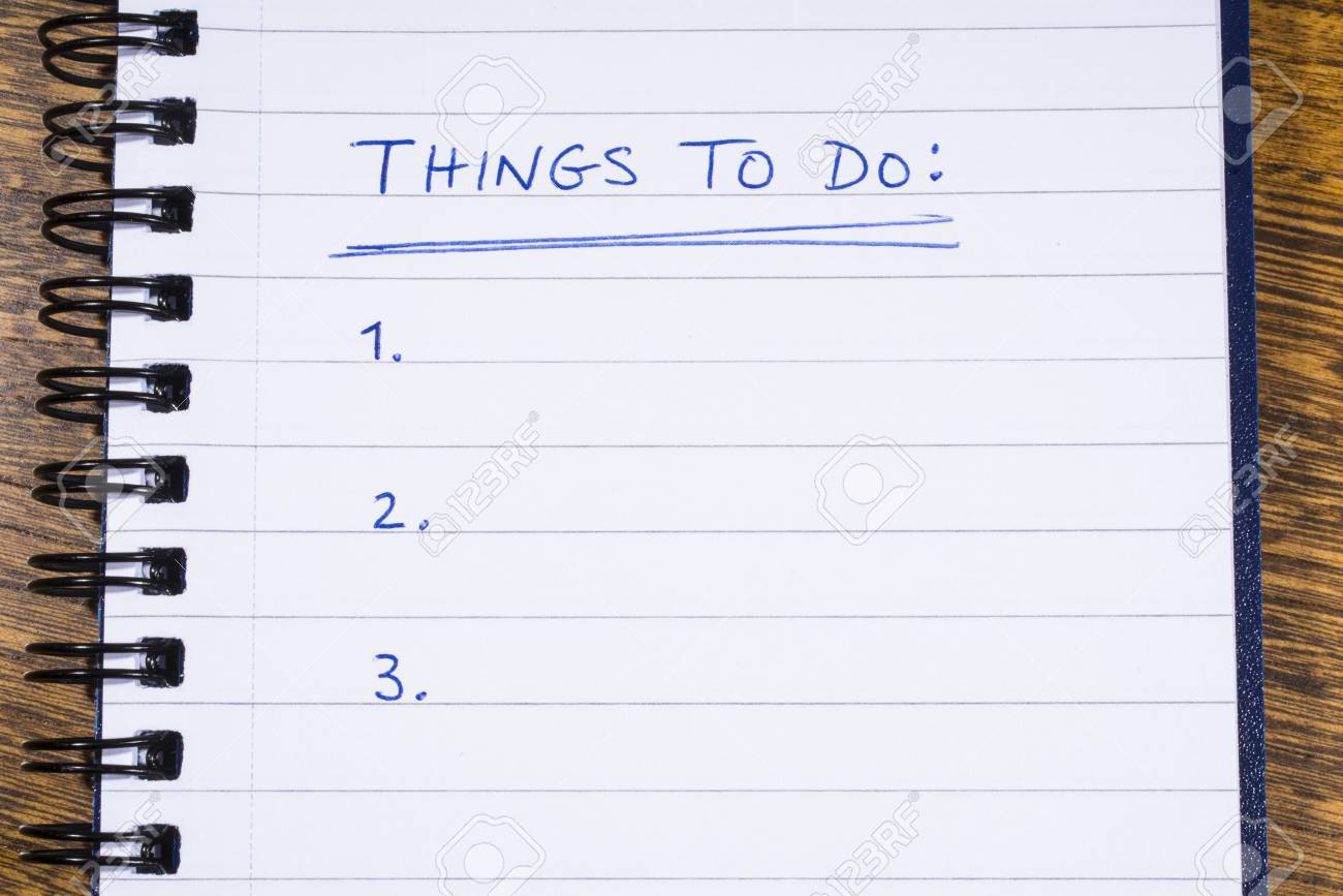 things to do checklist