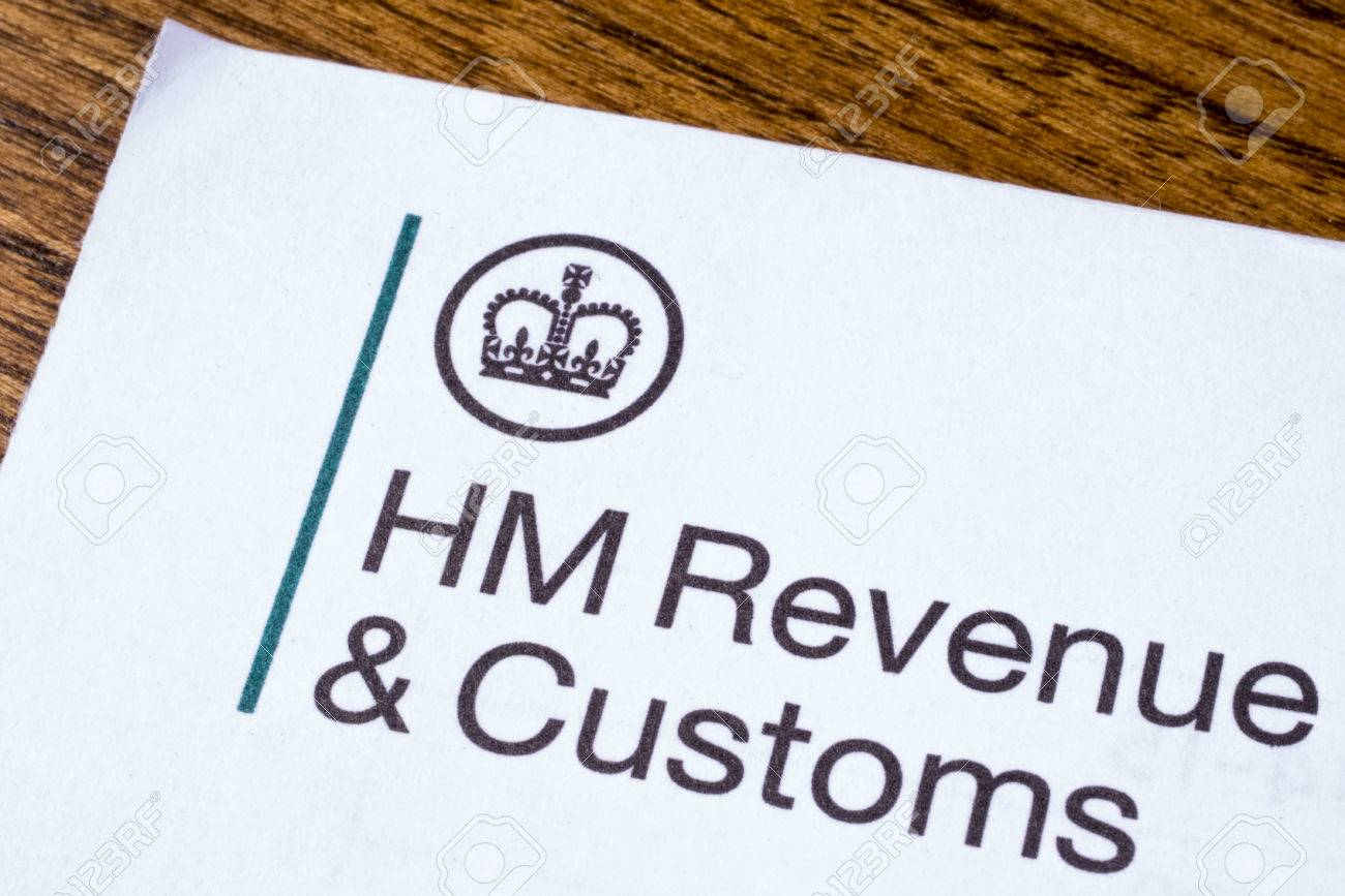 LONDON, UK - JANUARY 13TH 2017: The logo of Her Majestys Revneue and Customs on a piece of paper, on 13th January 2017. HMRC is a non-ministerial dept of the UK Government. - 69750725