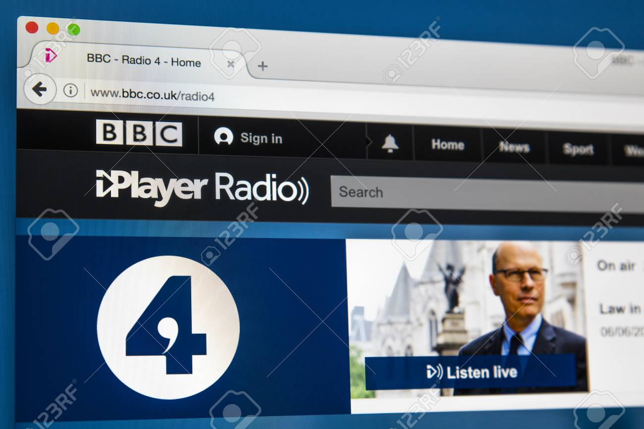 LONDON, UK - JUNE 8TH 2017: The homepage of BBC Radio 4 on the