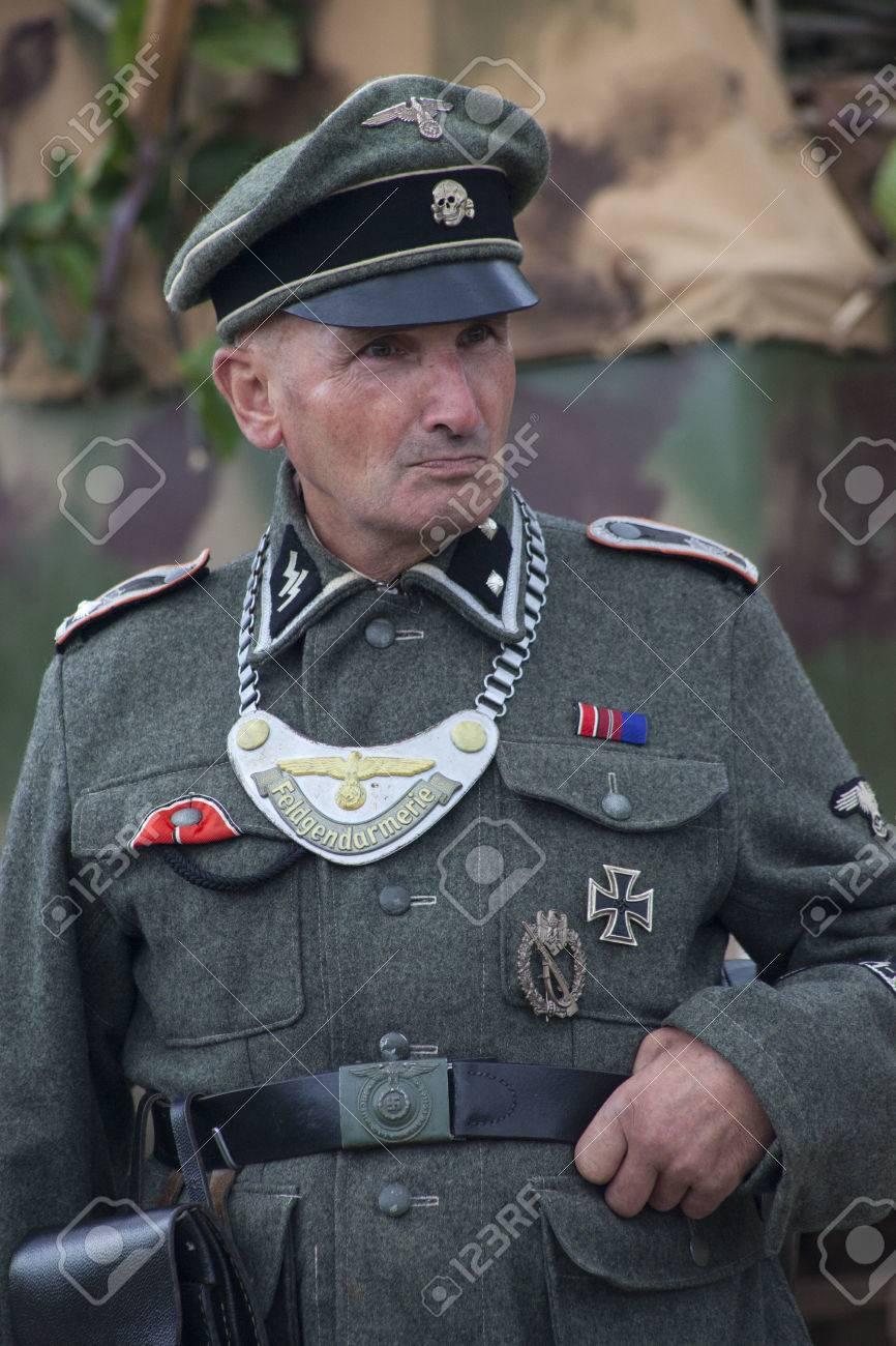 KENT, UK - AUGUST 25TH 2012: Actor posing as German Military