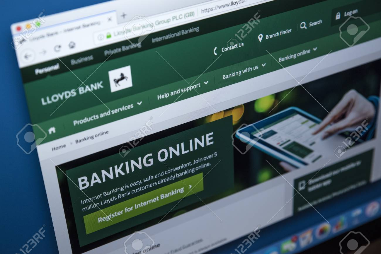 LONDON, UK - NOVEMBER 22ND 2017: The homepage of the Online Banking