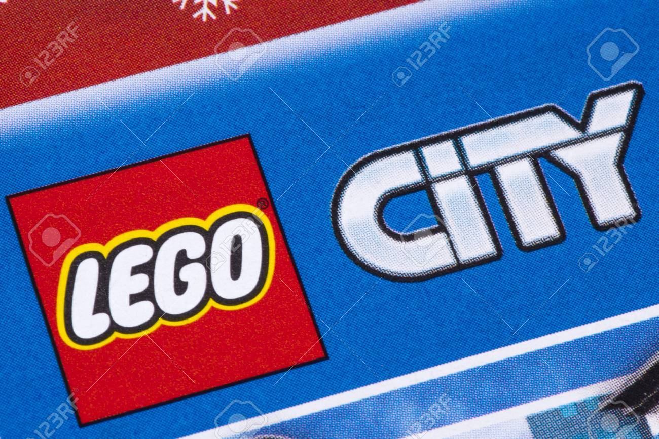 LONDON, UK - DECEMBER 18TH 2017: The Lego City logo printed in