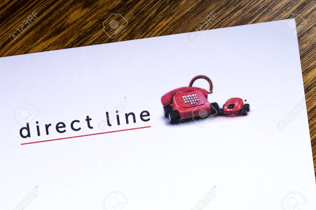 London Uk March 27th 2018 A Close Up Of The Direct Line Company
