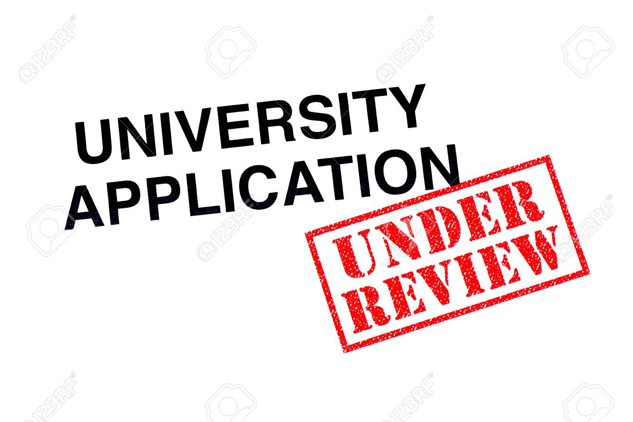 University Application heading stamped with a red UNDER REVIEW