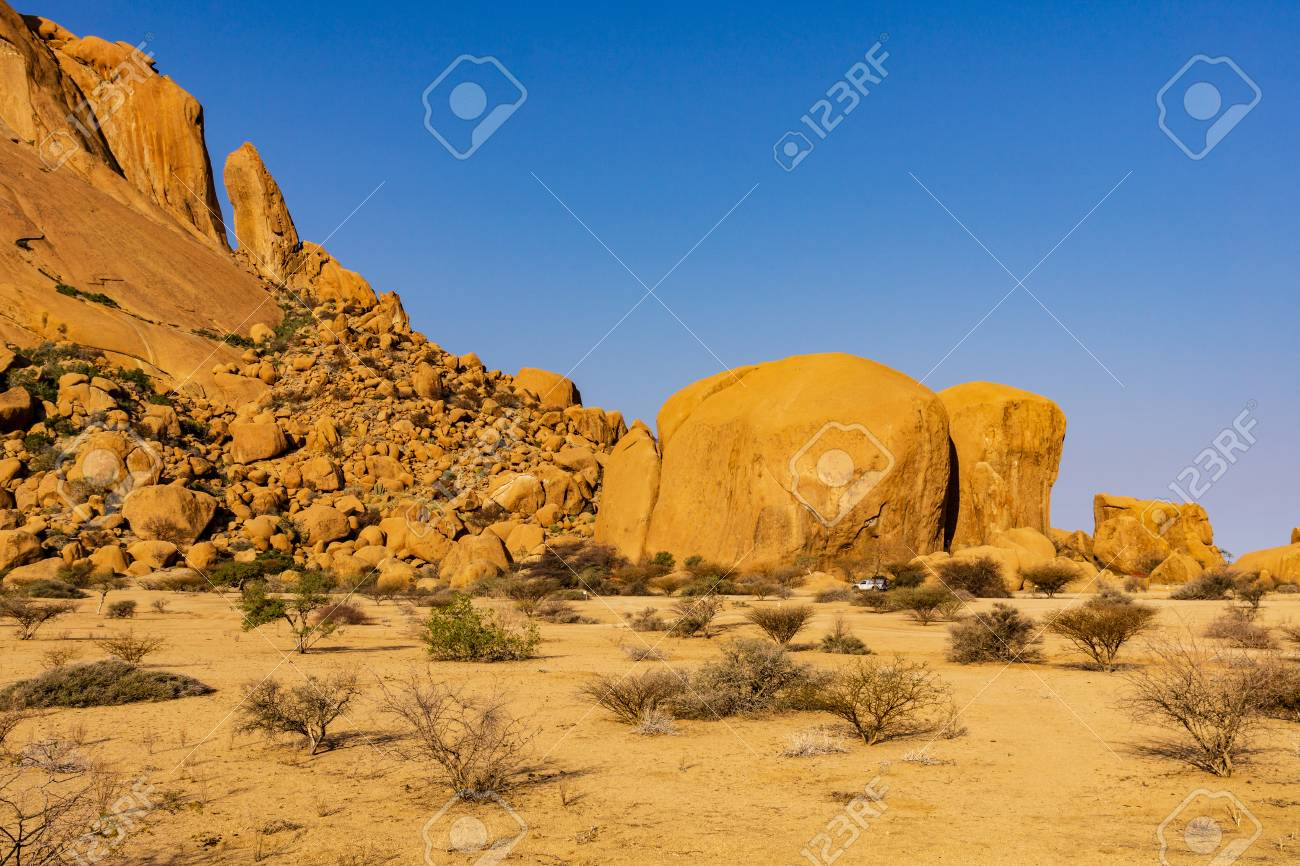 Spitzkoppe Namibia Camping With A 4x4 Car Toyota Hilux And Stock Photo Picture And Royalty Free Image Image 117490749