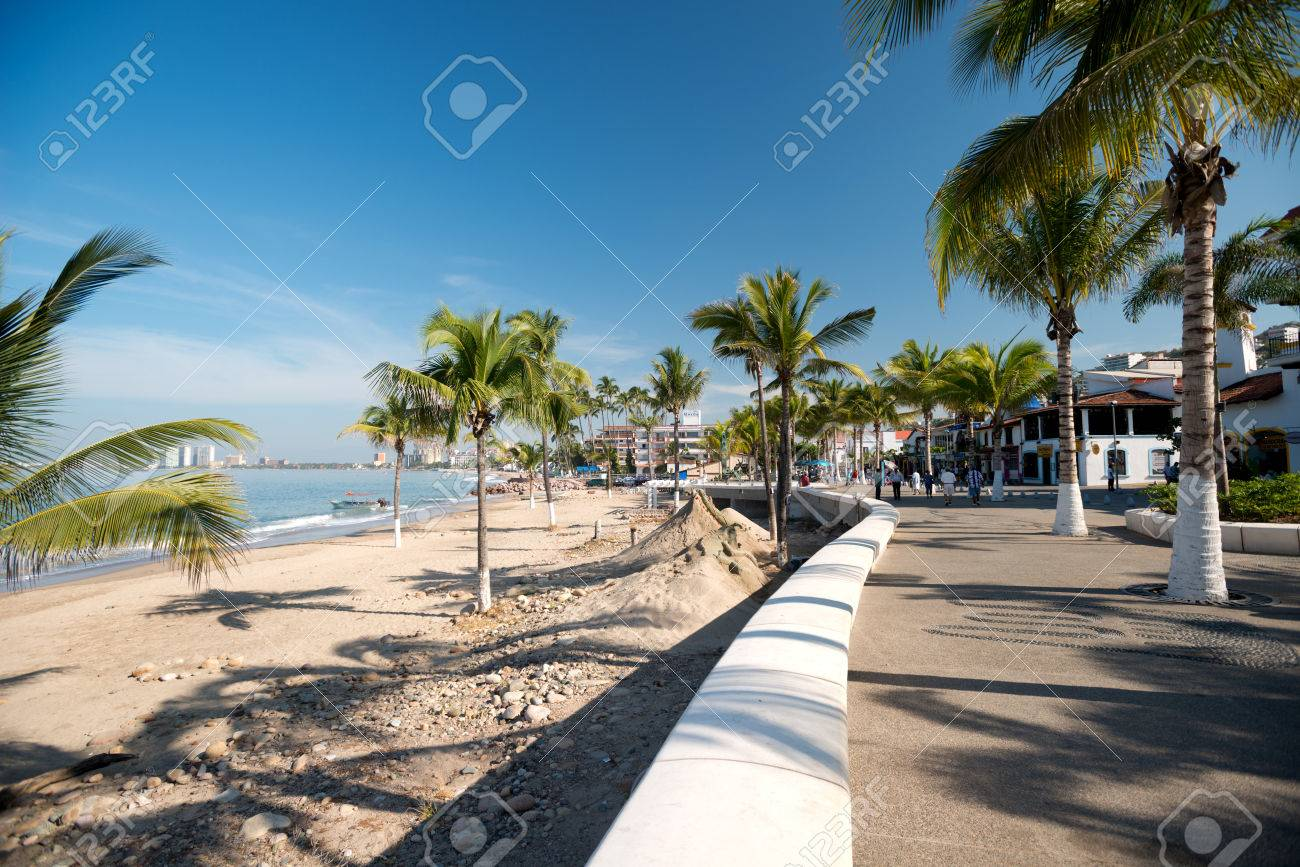 This Image Shows The Malecon In Puerto Vallarta Jalisco Mexico