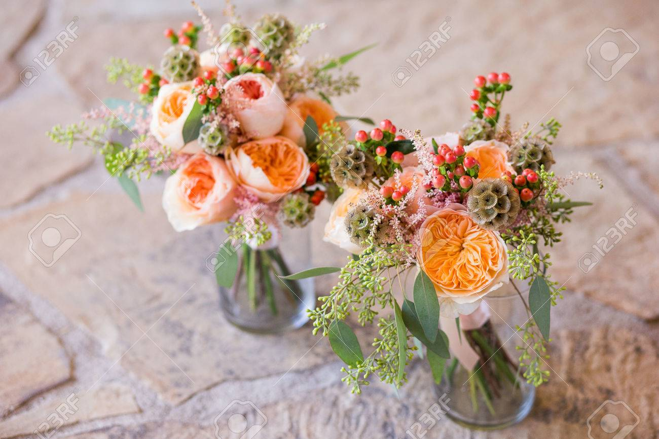 Two bouquets of pretty flowers in vases stock photo picture and two bouquets of pretty flowers in vases stock photo 44306206 reviewsmspy