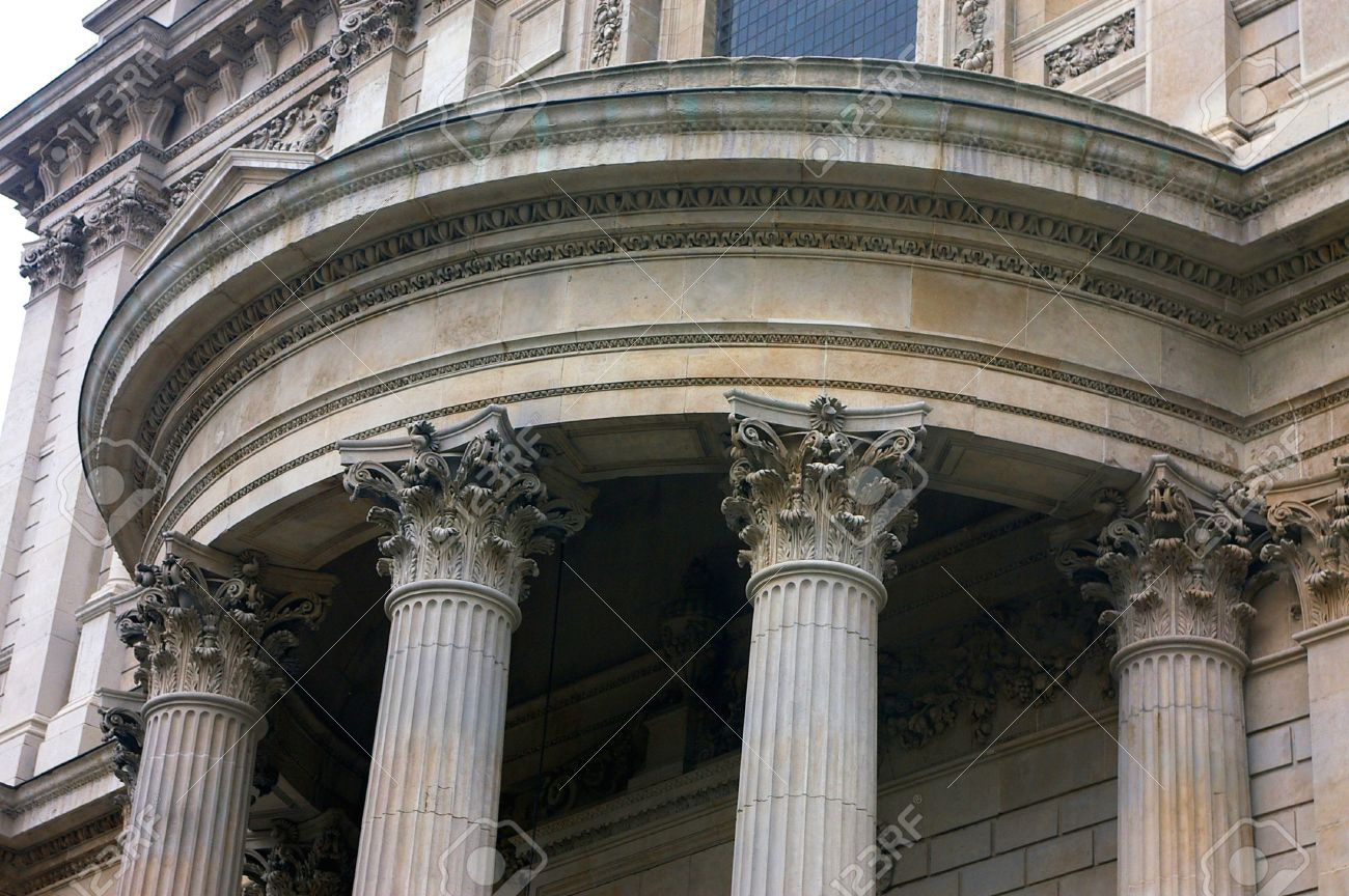 corinthian columns st pauls cathedral stock photo 905455
