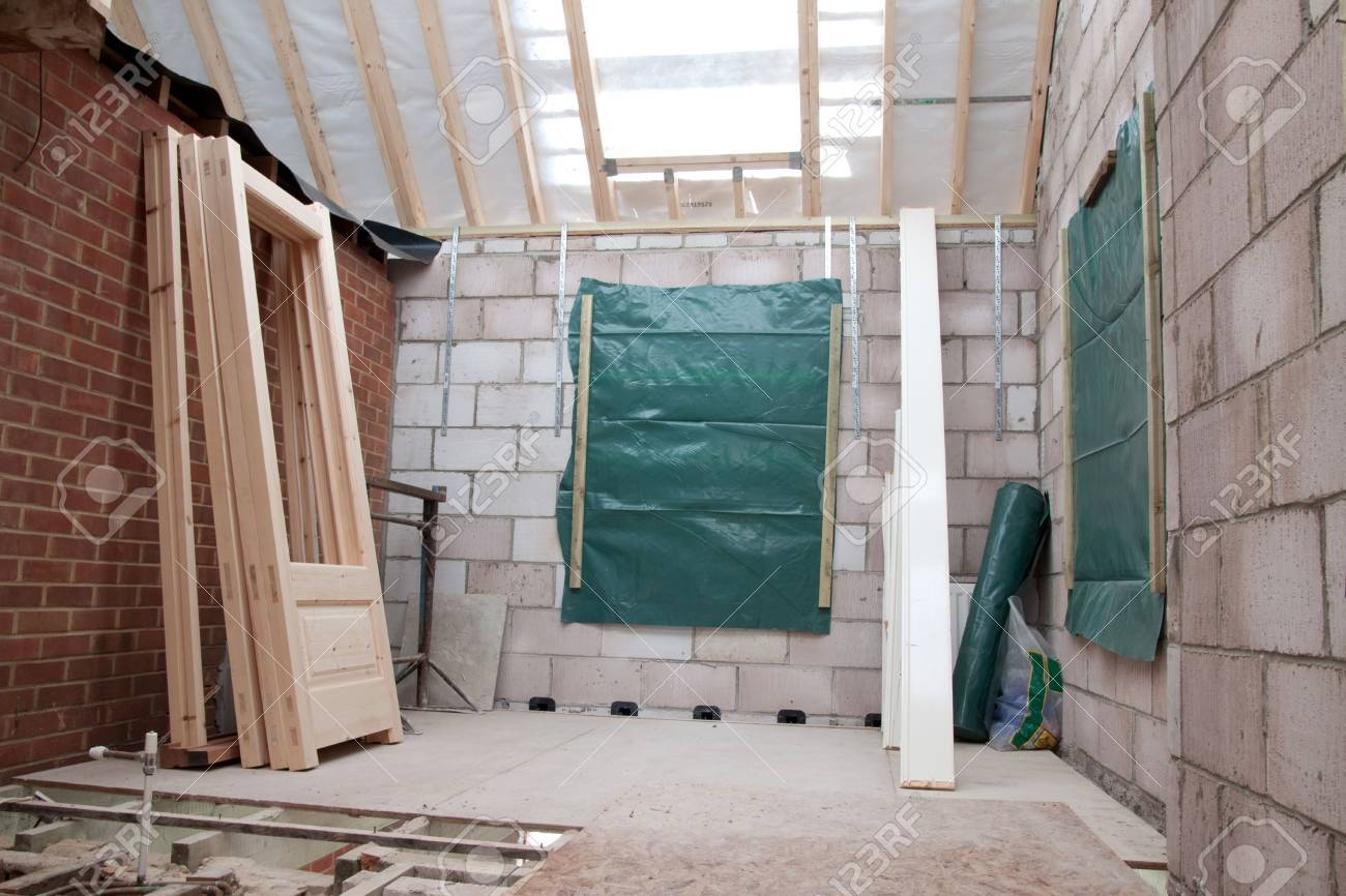 Interior Of Building Under Construction Stock Photo, Picture And ...