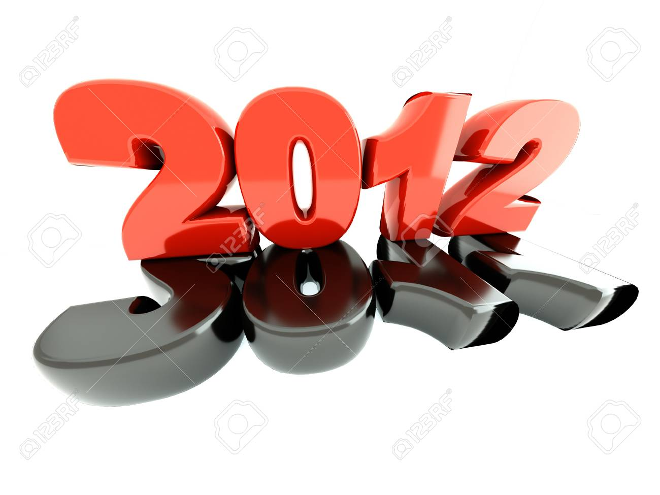 3d new year 2012 Stock Photo - 10170060