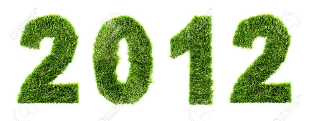 3d new year 2012 - ecology concept Stock Photo - 10423856