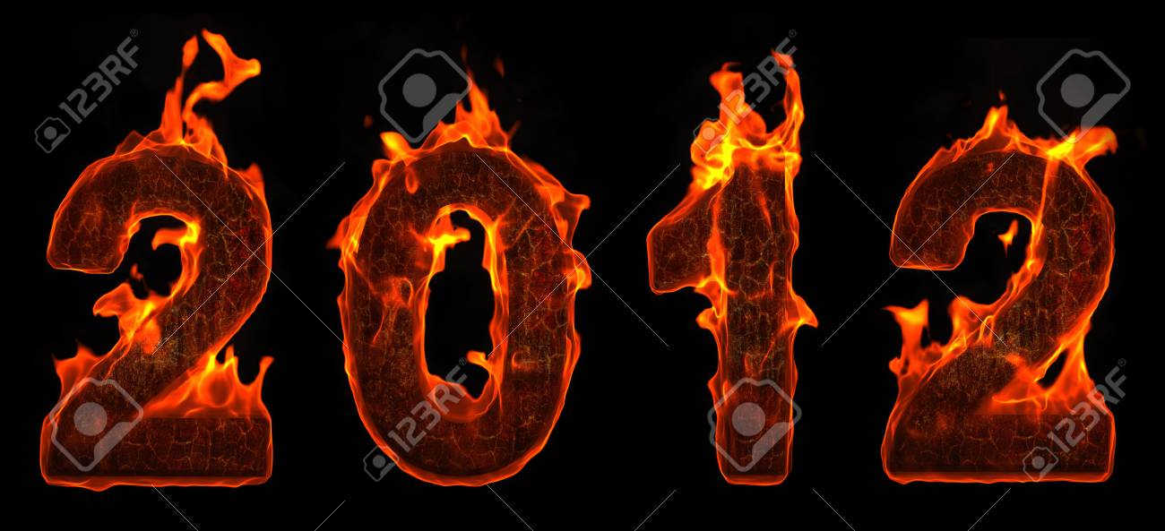 2012 new year in flame Stock Photo - 11545859