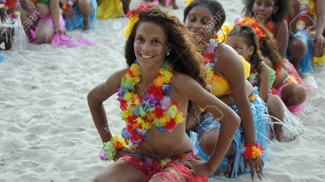 boca chica, dominikanische republik madchen