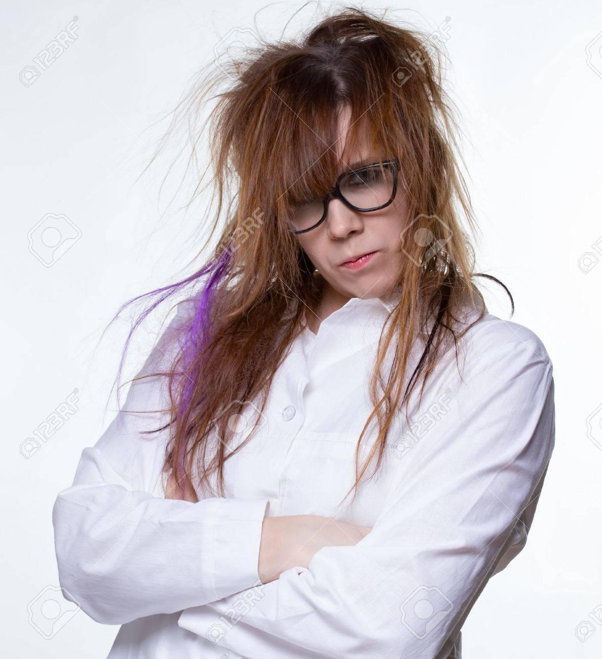 Femme Hirsute Photo femme hirsute scientifique sérieux banque d'images et photos libres