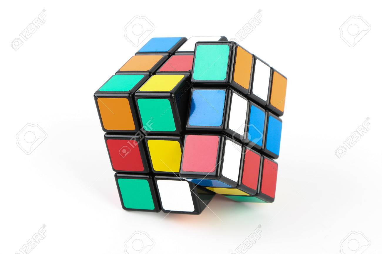Rubik's Cube is isolated on white background. - 43350058