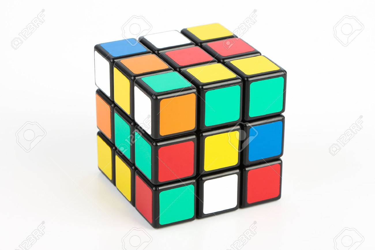 Rubik's Cube is isolated on white background. - 43350059