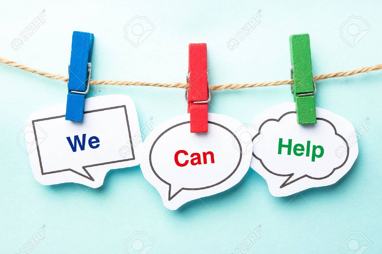 We can help bubble with clip hanging on the line with blue background. - 42826724