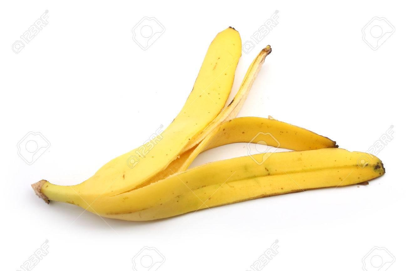 Banana skin isolated on white background. - 44032624