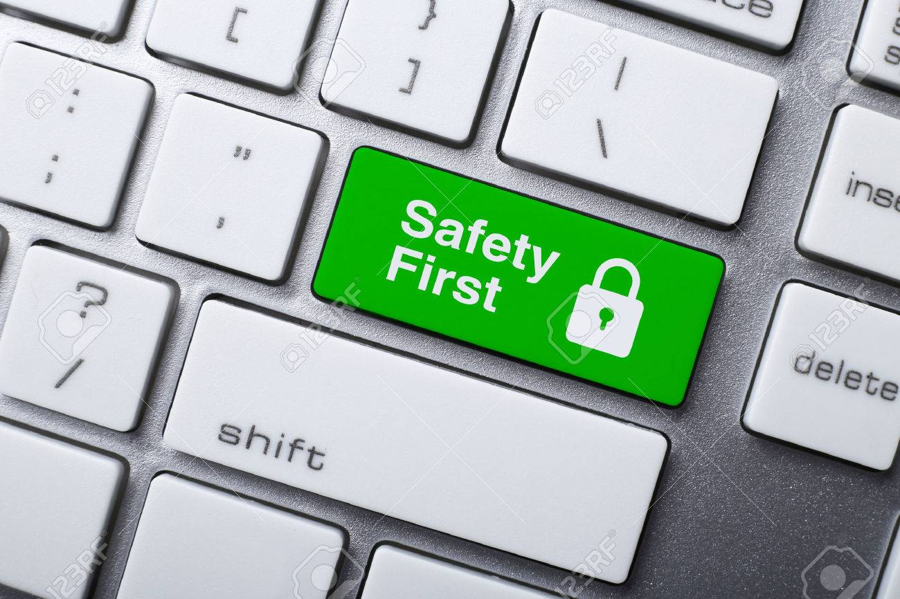 Closeup picture of Safety First button of a modern keyboard. - 47350047