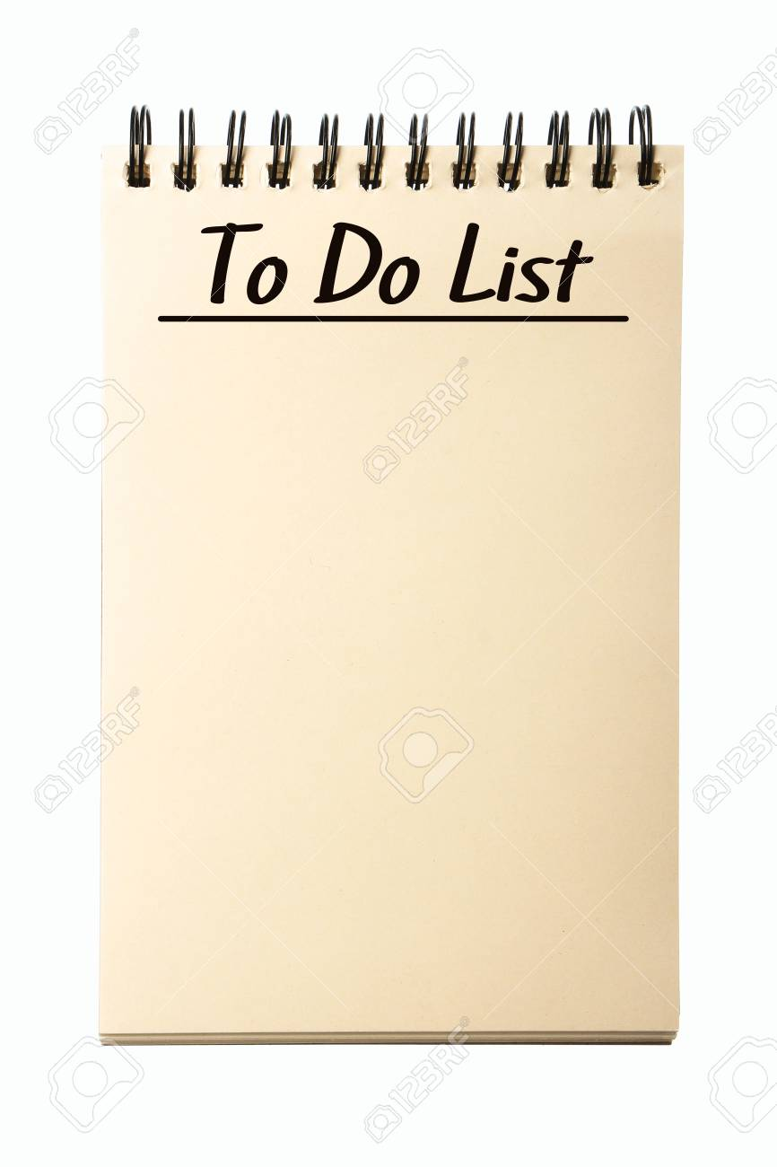 image relating to Blank to Do List referred to as Blank Toward Do Checklist laptop computer isolated upon white heritage.