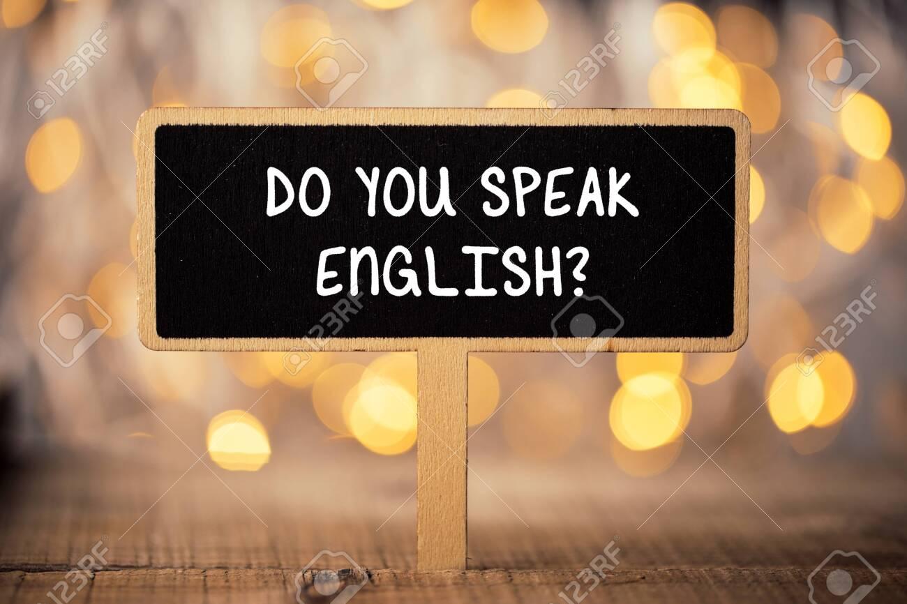 Do You Speak English Concept sign blackboard. - 152379842