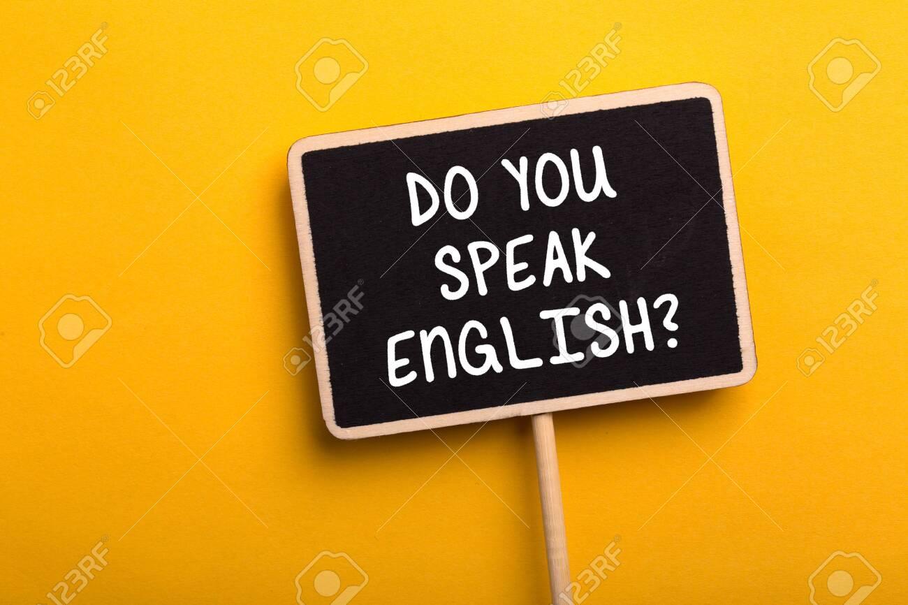 Do You Speak English Concept sign blackboard. - 152379845