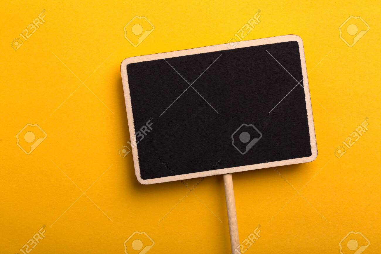 Blank Blackboard Sign Board Isolated on colored background. - 152379847