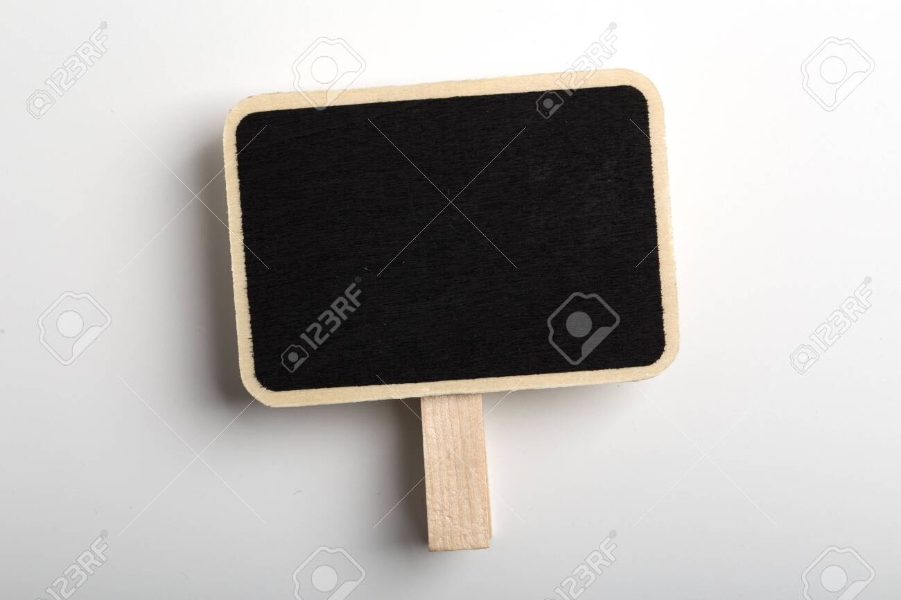 Blank Blackboard Sign Board Isolated on white background. - 152379893