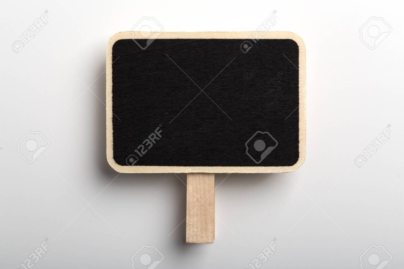Blank Blackboard Sign Board Isolated on white background. - 152380358