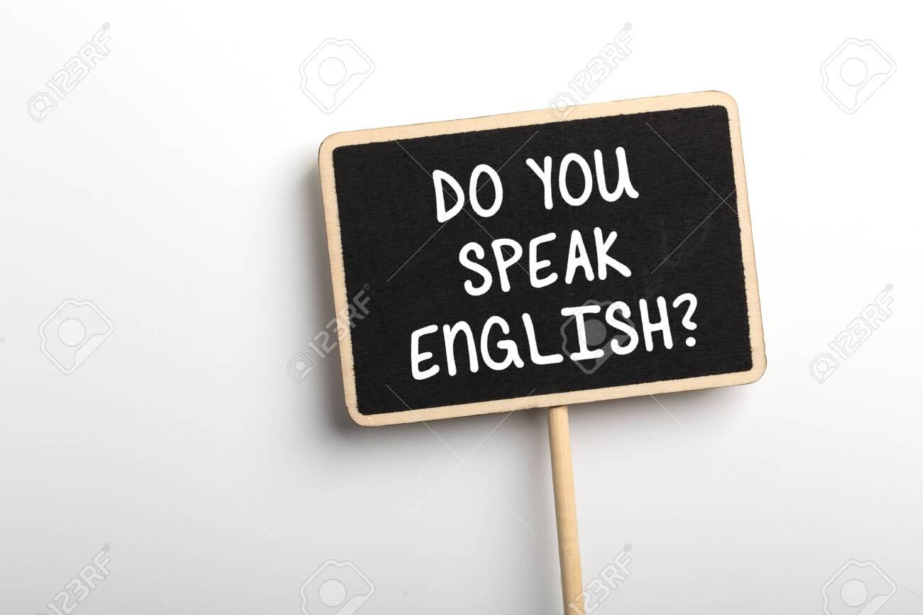 Do You Speak English Concept sign blackboard. - 152380360