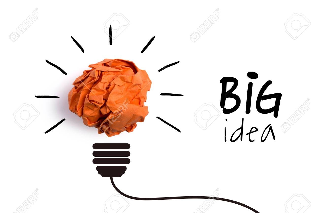 Big idea and innovation concept with paper ball. - 152380621