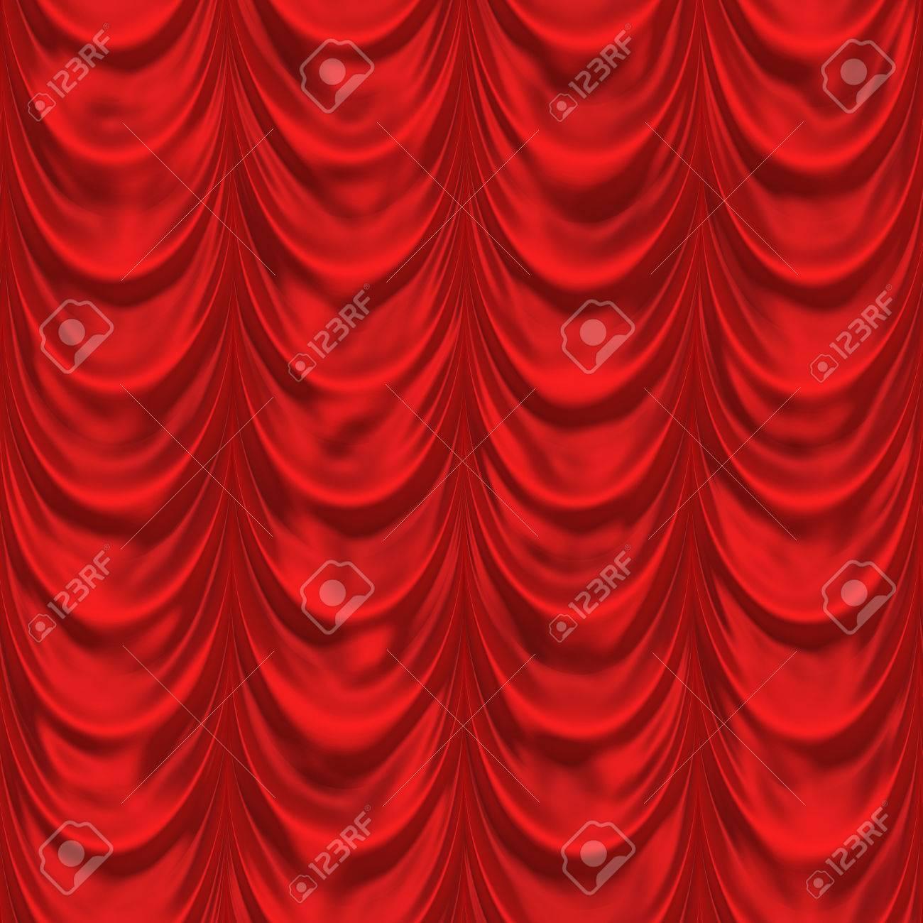 Rideau Rouge. Seamless Background. Rideaux De Théâtre Pattern ...