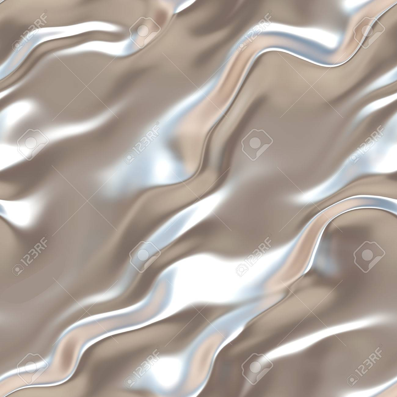 Liquid Silver Liquid Silver. Seamless Grey Wavy Surface. Light Silk. Silver ...