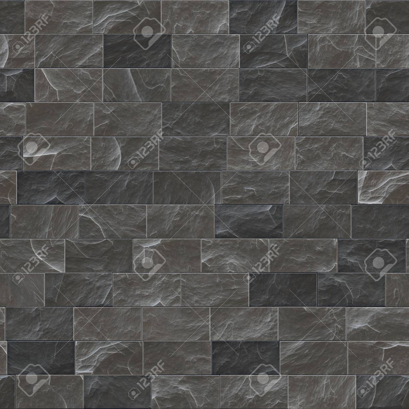 . Texture of a dark stone wall  Seamless background