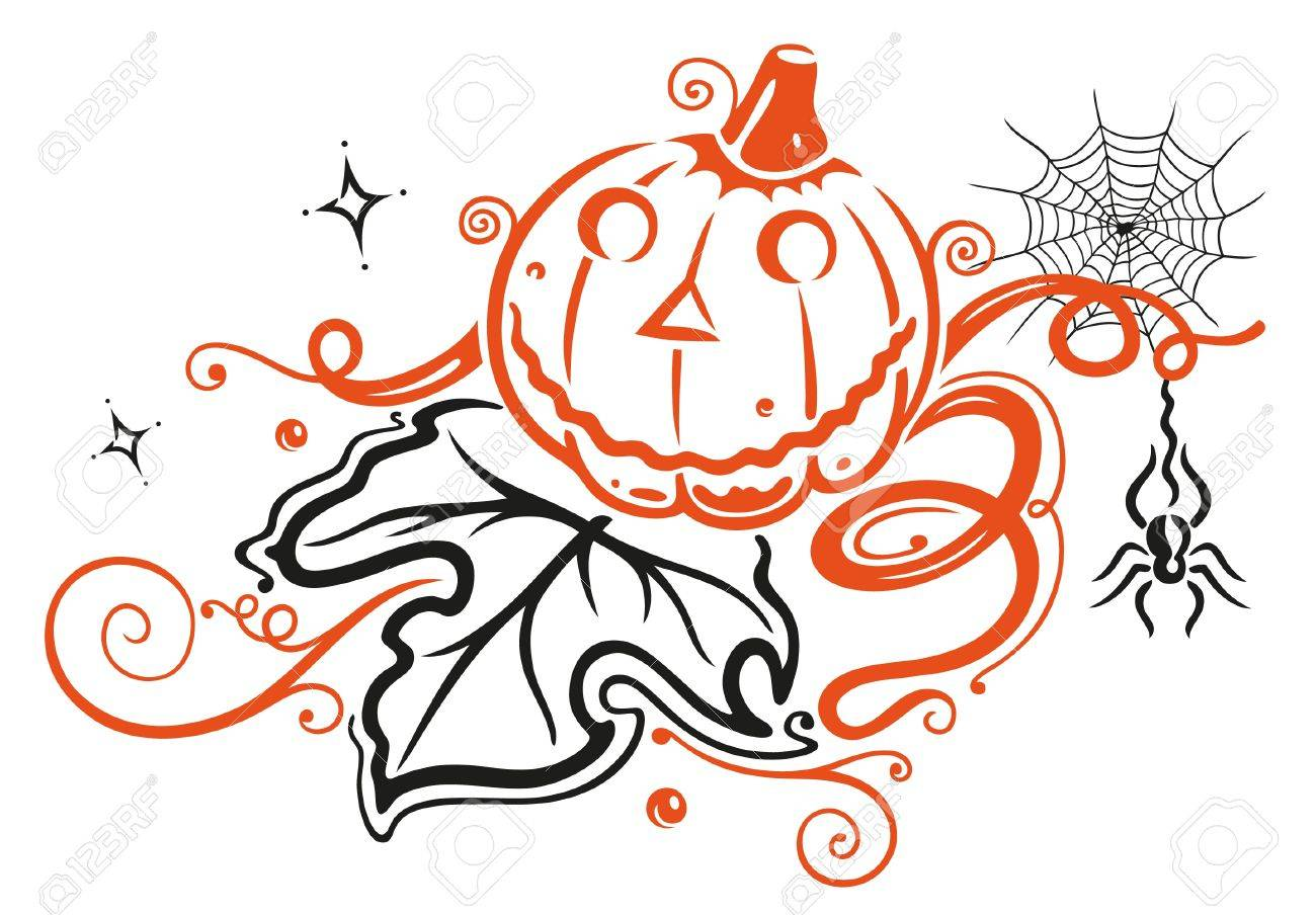 Halloween pumpkin, autumn Stock Vector - 21607318