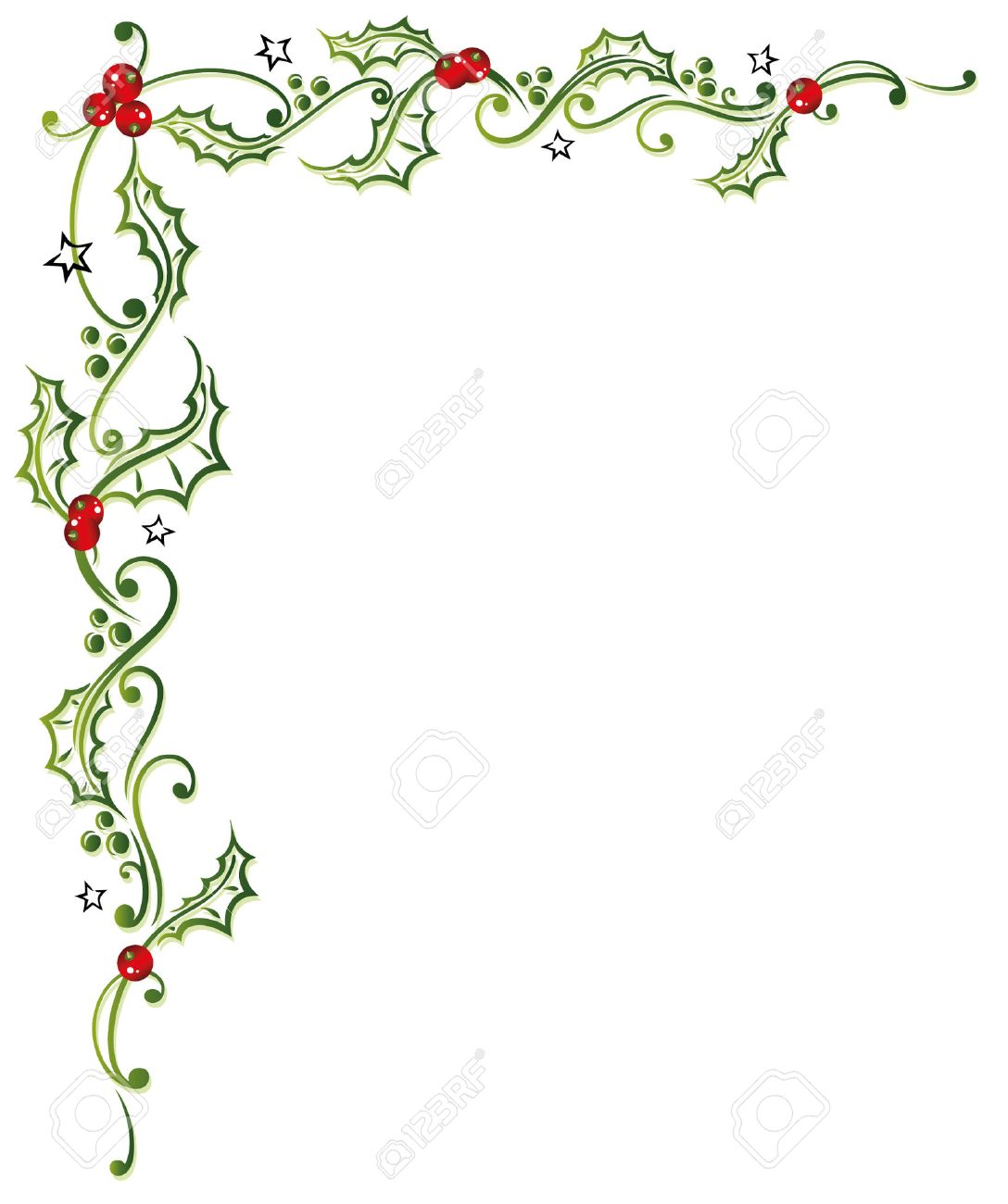 Colorful christmas decoration, holly and berries Standard-Bild - 22437803