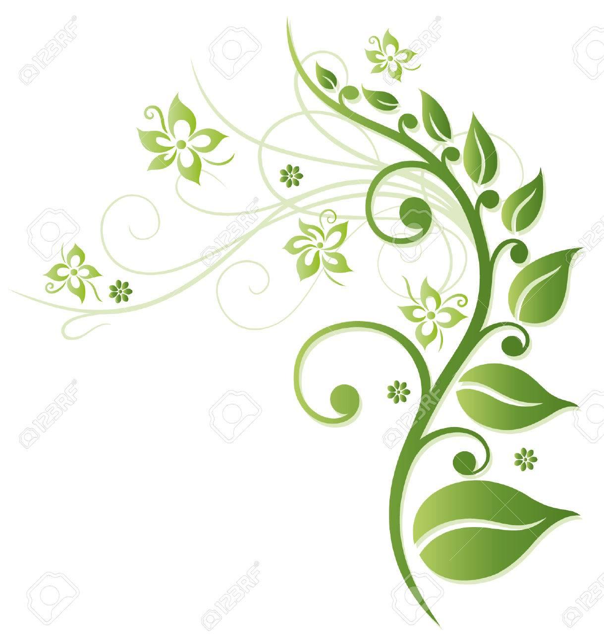Green flowers, colorful spring time Standard-Bild - 23898854
