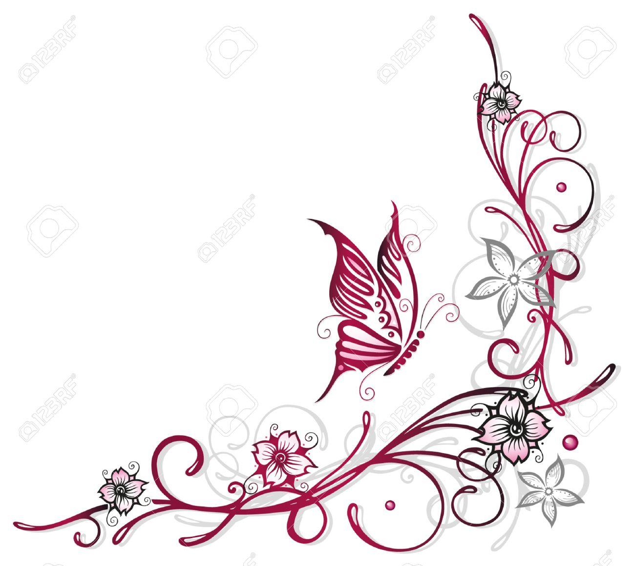 Floral element, cherry blossoms, spring time Standard-Bild - 23898923
