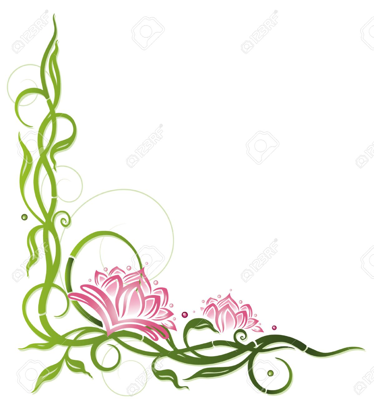Lotus-Blume mit Bambus-, Wellness-Dekoration Standard-Bild - 27946173
